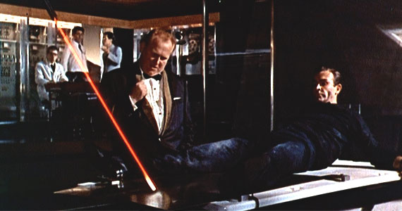 Goldfinger death laser